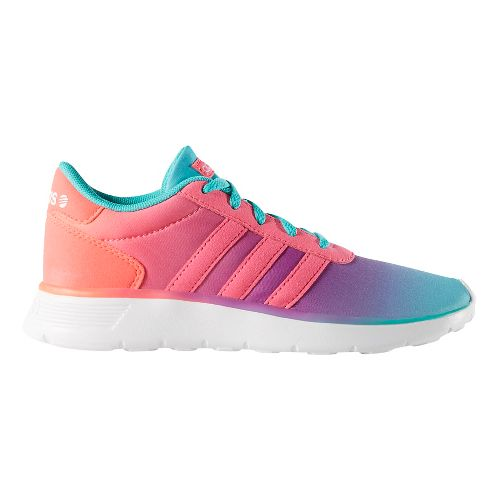 Kids adidas Lite Racer Casual Shoe - Mint/Pink 5.5Y