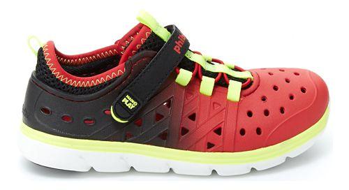 Stride Rite M2P Phibian Sandals Shoe - Black/Red 8C