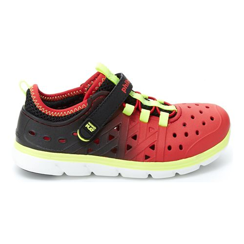 Stride Rite M2P Phibian Sandals Shoe - Black/Red 4C