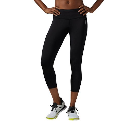 Womens Reebok Workout Ready Capri Tights & Leggings Pants - Black L