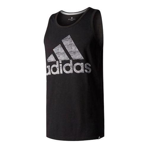 Mens Adidas Washed Adi Sleeveless & Tank Tops Technical Tops - Black S