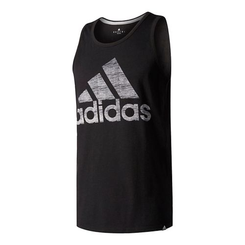 Mens Adidas Washed Adi Sleeveless & Tank Tops Technical Tops - Black XL