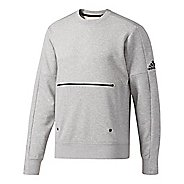 Mens Adidas Sport ID French Terry Long Sleeve Technical Tops