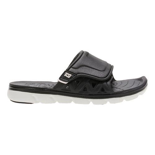 Stride Rite M2P Phibian Slide Sandals Shoe - Black/White 1Y