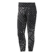 Womens Reebok Yoga Printed Capri Tights & Leggings Pants