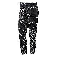 Womens Reebok Yoga Printed Capri Tights & Leggings Pants