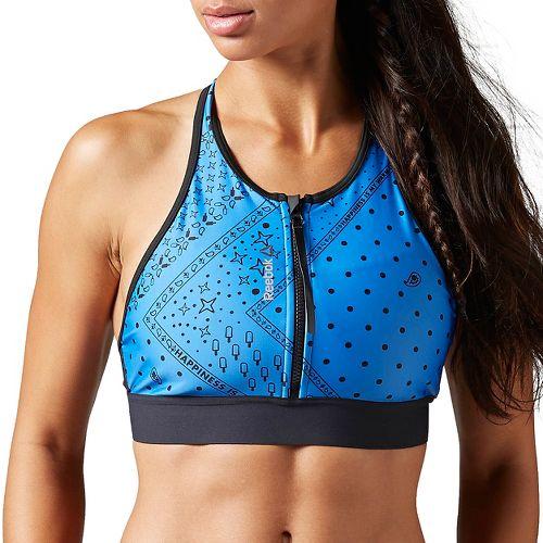 Womens Reebok Yoga SUP Sports Bras - Echo Blue M