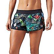 Womens Reebok CrossFit Hidden Jungle Lined Shorts