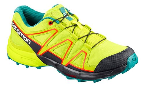 Kids Salomon Speedcross Trail Running Shoe - Acid Lime 3Y