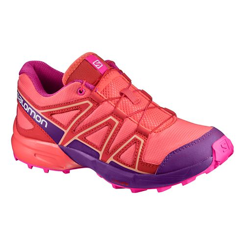 Salomon Speedcross J Trail Running Shoe - Living Coral 5Y