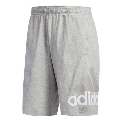 Mens Adidas Jersey Unlined Shorts - Dark Grey Heather M
