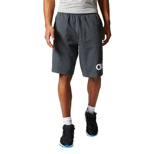 Mens Adidas Jersey Unlined Shorts - Medium Grey Heather M