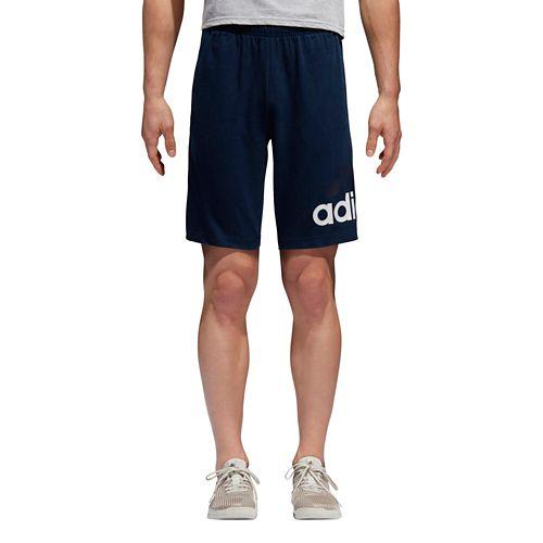 Mens Adidas Jersey Unlined Shorts - Navy L