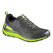 Mens Salomon Odyssey Pro Hiking Shoe - Grey/Lime/Black 12
