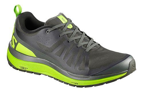 Mens Salomon Odyssey Pro Hiking Shoe - Grey/Lime/Black 11.5