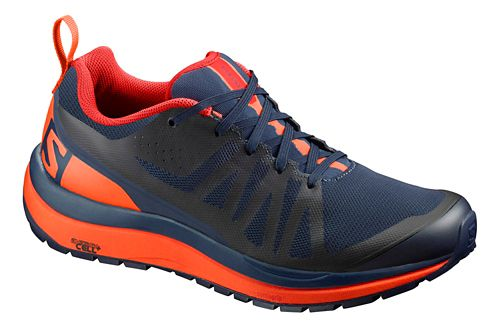 Mens Salomon Odyssey Pro Hiking Shoe - Navy/Flame 10.5