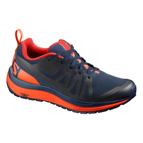 Mens Salomon Odyssey Pro Hiking Shoe - Navy/Flame 7.5
