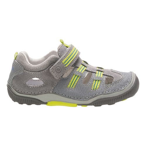 Stride Rite SRT Reggie Sandals Shoe - Grey/Lime 5.5C