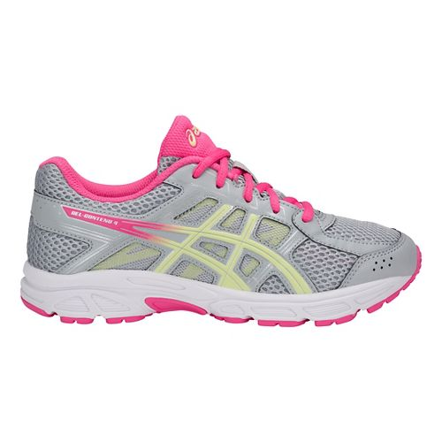 Kids ASICS GEL-Contend 4 Running Shoe - Grey/Limelight/Pink 5Y