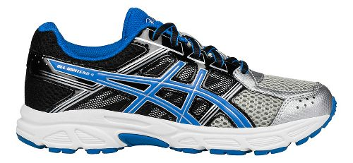 Kids ASICS GEL-Contend 4 Running Shoe - Silver/Blue/Black 3Y