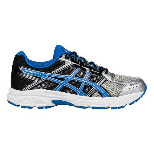 Kids ASICS GEL-Contend 4 Running Shoe - Silver/Blue/Black 2.5Y