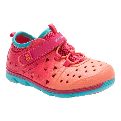 Stride Rite M2P Phibian Sandals Shoe - Coral/Turquoise 2Y