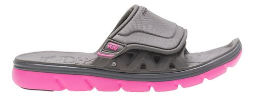 Stride Rite M2P Phibian Slide Sandals Shoe - Grey/Pink 1Y