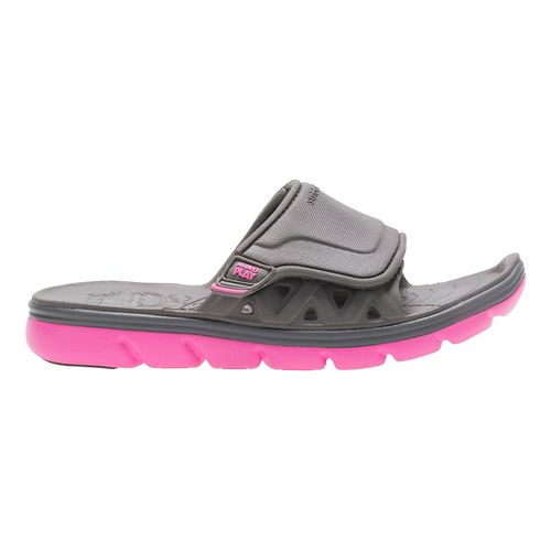 Stride Rite M2P Phibian Slide Sandals Shoe - Grey/Pink 11C
