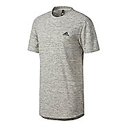 Mens Adidas Essentials Heathered Pique Tee Short Sleeve Technical Tops