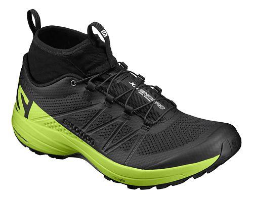 Mens Salomon XA Enduro Trail Running Shoe - Black/Lime 9