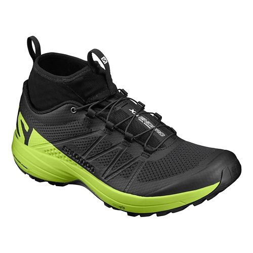 Mens Salomon XA Enduro Trail Running Shoe - Black/Lime 8.5