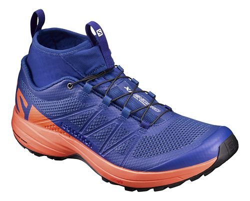 Mens Salomon XA Enduro Trail Running Shoe - Surf The Web/Flame 14