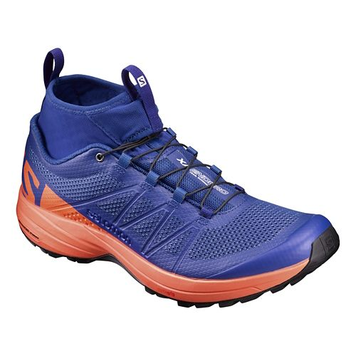 Mens Salomon XA Enduro Trail Running Shoe - Surf The Web/Flame 10