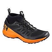 Mens Salomon XA Enduro Trail Running Shoe - Black/Marigold 8