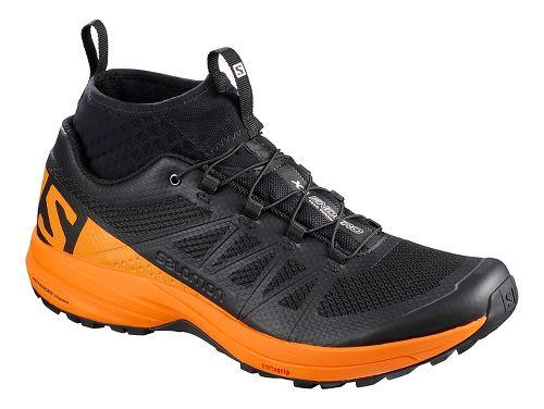 Mens Salomon XA Enduro Trail Running Shoe - Black/Marigold 10.5