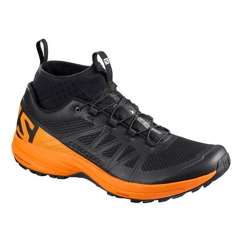 Mens Salomon XA Enduro Trail Running Shoe - Black/Marigold 8