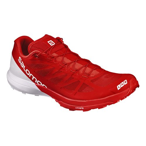 Salomon S-Lab Sense 6 Trail Running Shoe - Red/White 12