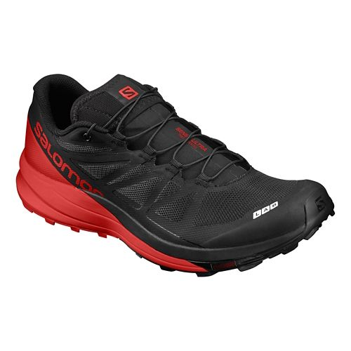 Salomon S-Lab Sense Ultra Running Shoe - Black/Red 4