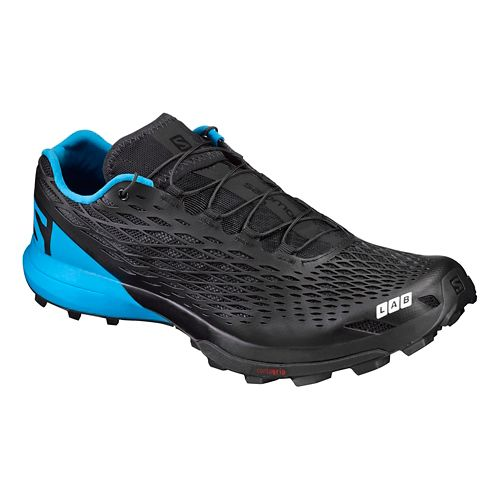 Salomon S-Lab XA Amphib Trail Running Shoe - Black/Blue 9