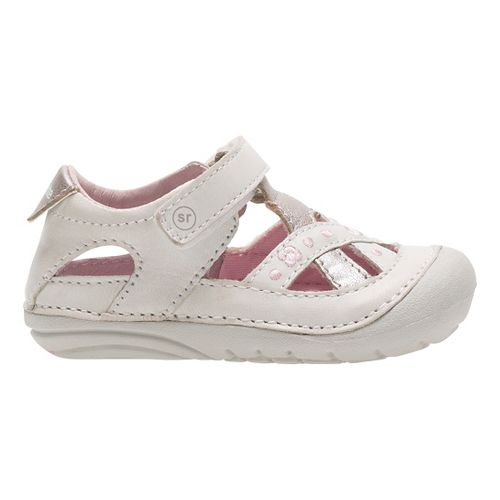 Stride Rite SM Kiki Sandals Shoe - White 4.5C