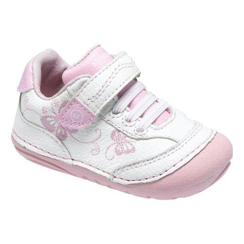 Stride Rite SRT SM Bambi Casual Shoe - White/Pink 4.5C