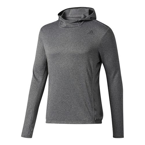 Mens adidas Response Astro Hoodie Long Sleeve Technical Tops - Black S