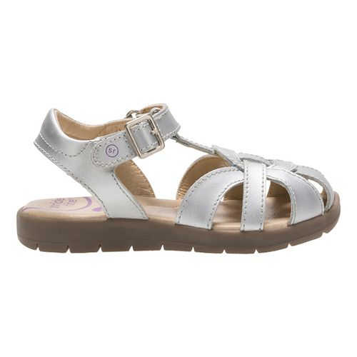 Stride Rite Summer Time Sandals Shoe - Silver 1.5Y