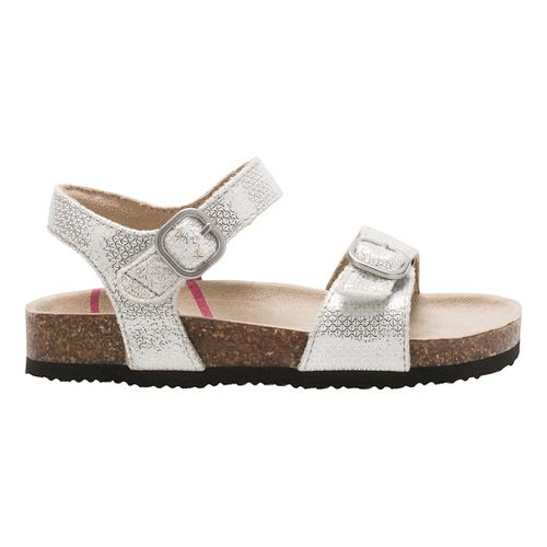 Stride Rite Zuly Sandals Shoe - Silver 2Y