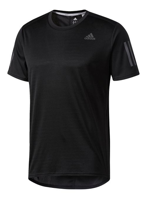 Mens adidas Response Tee Short Sleeve Technical Tops - Black S