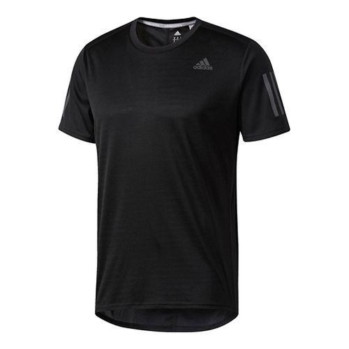 Mens Adidas Response Tee Short Sleeve Technical Tops - Black XL