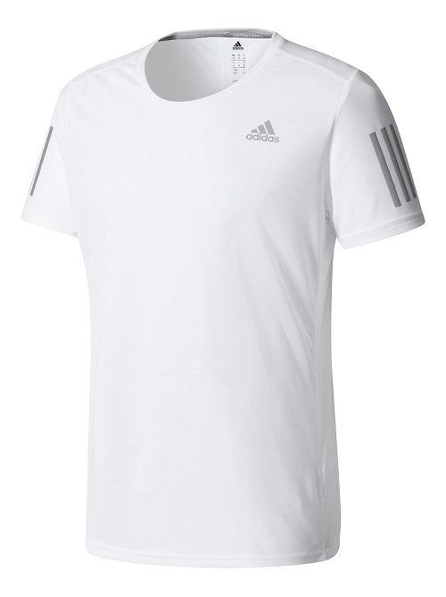 Mens Adidas Response Tee Short Sleeve Technical Tops - White L