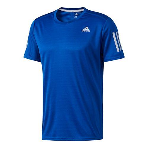 Mens Adidas Response Tee Short Sleeve Technical Tops - Collegiate Royal M
