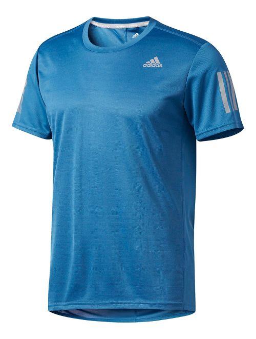 Mens Adidas Response Tee Short Sleeve Technical Tops - Core Blue M