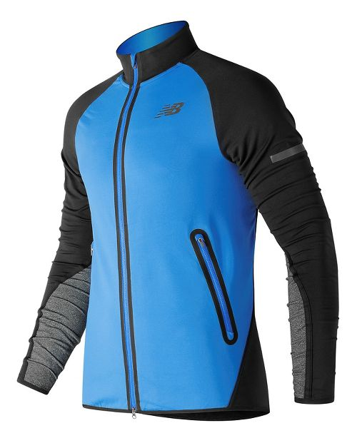Mens New Balance Trinamic Running Jackets - Electric Blue L